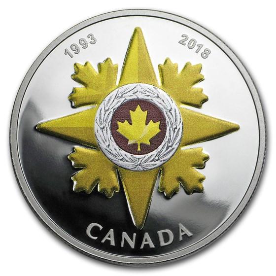 2018 Canada 1 oz Silver $20 CND Honors: Valour