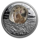 2018 Canada 1 oz Silver $20 Frozen In Ice: Sabretooth Cat
