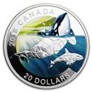 2018 Canada 1 oz Silver $20 Geometric Fauna: Orcas