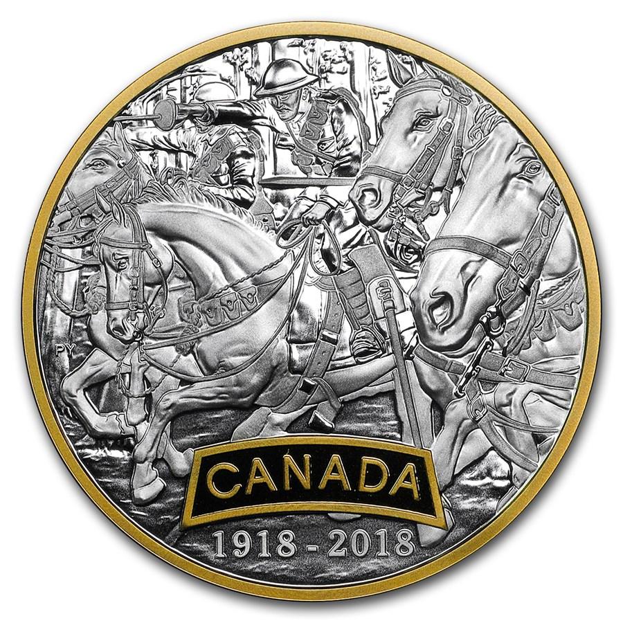 2018 Canada 1 oz Silver $20 WWI Allied Forces: Canada