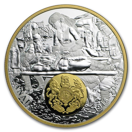 2018 Canada 1 oz Silver $20 WWI Allied Forces: Great Britain