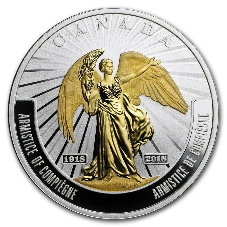 2018 Canada 1 oz Silver $20 WWI Battlefront Series: Armistice