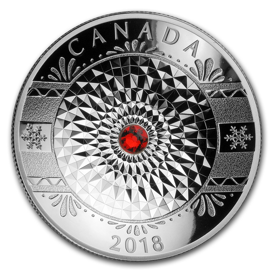 2018 Canada 1 oz Silver $25 Classic Holiday Ornament