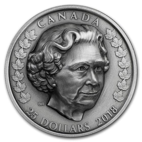 2018 Canada 1 oz Silver $25 Queen Elizabeth II: Matriarch
