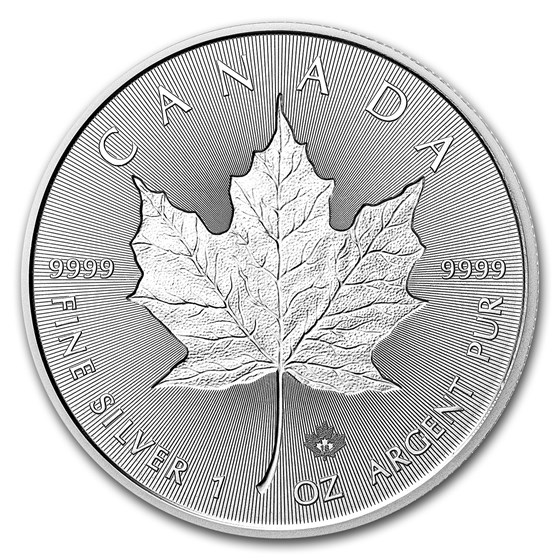 2018 Canada 1 oz Silver Incuse Maple Leaf BU