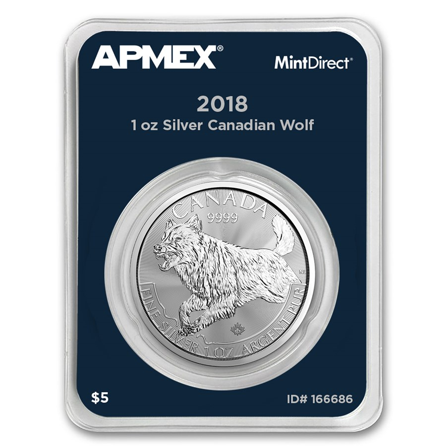 2018 Canada 1 oz Silver Predator Series Wolf (MintDirect® Single)