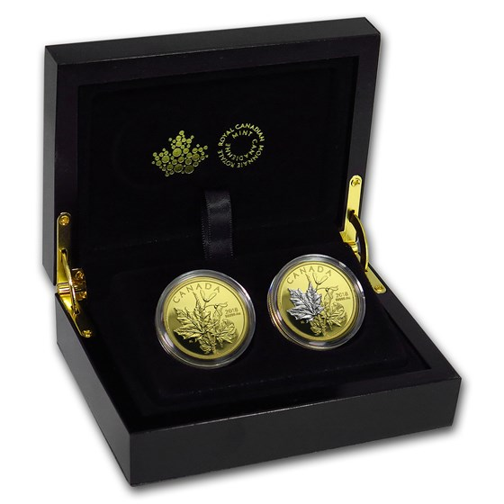 2018 Canada 2-Coin Gold Enchanting Maple Leaves Set