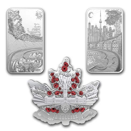 2018 Canada 3-Coin Silver Beneath Thy Shining Skies