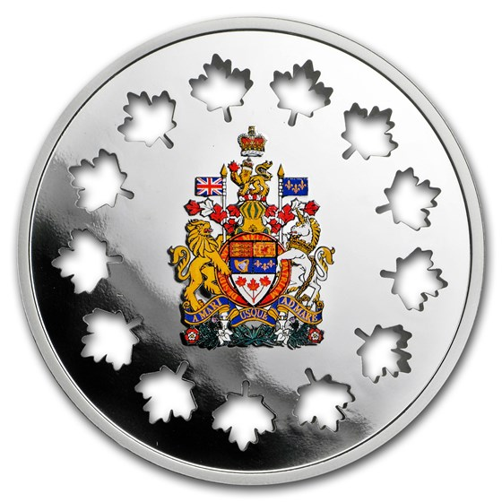 2018 Canada Silver $30 Evolving a Nation Maple Cut-out