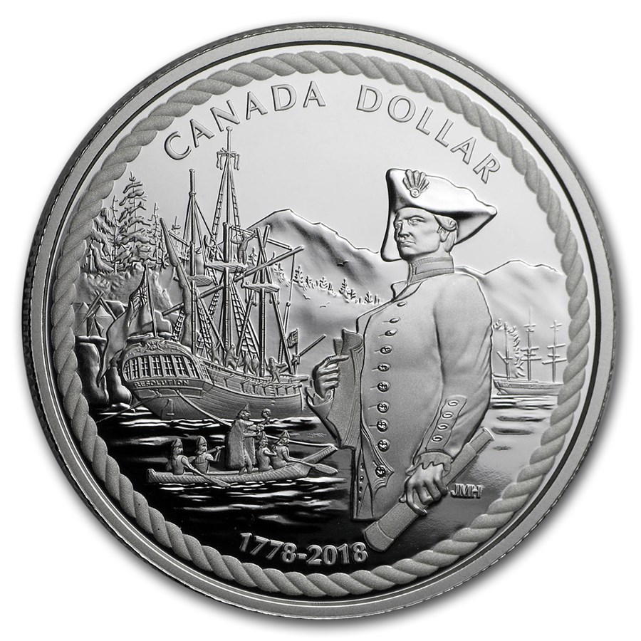 2018 Canada Silver Dollar Captain Cook at Nootka Sound Proof