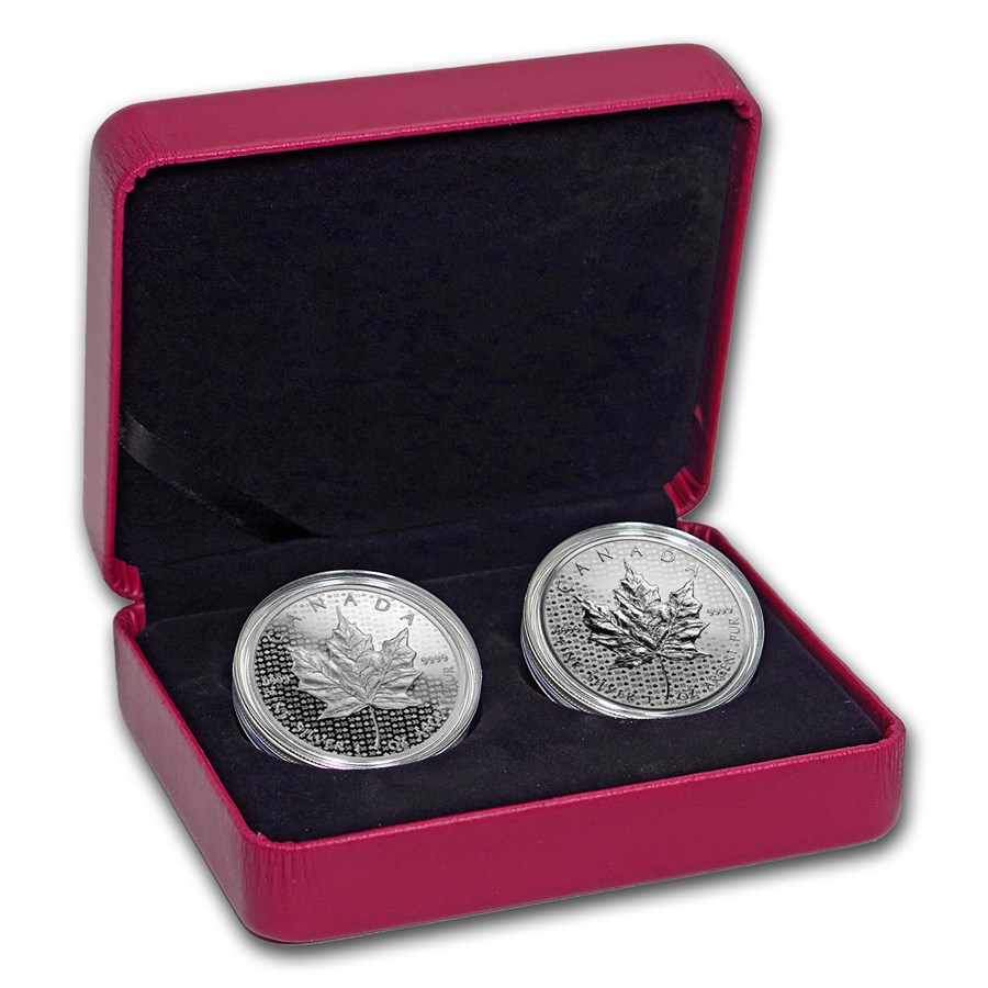 2018 Canada Silver Proof/Reverse Proof Maple Leaf 2-Coin Set