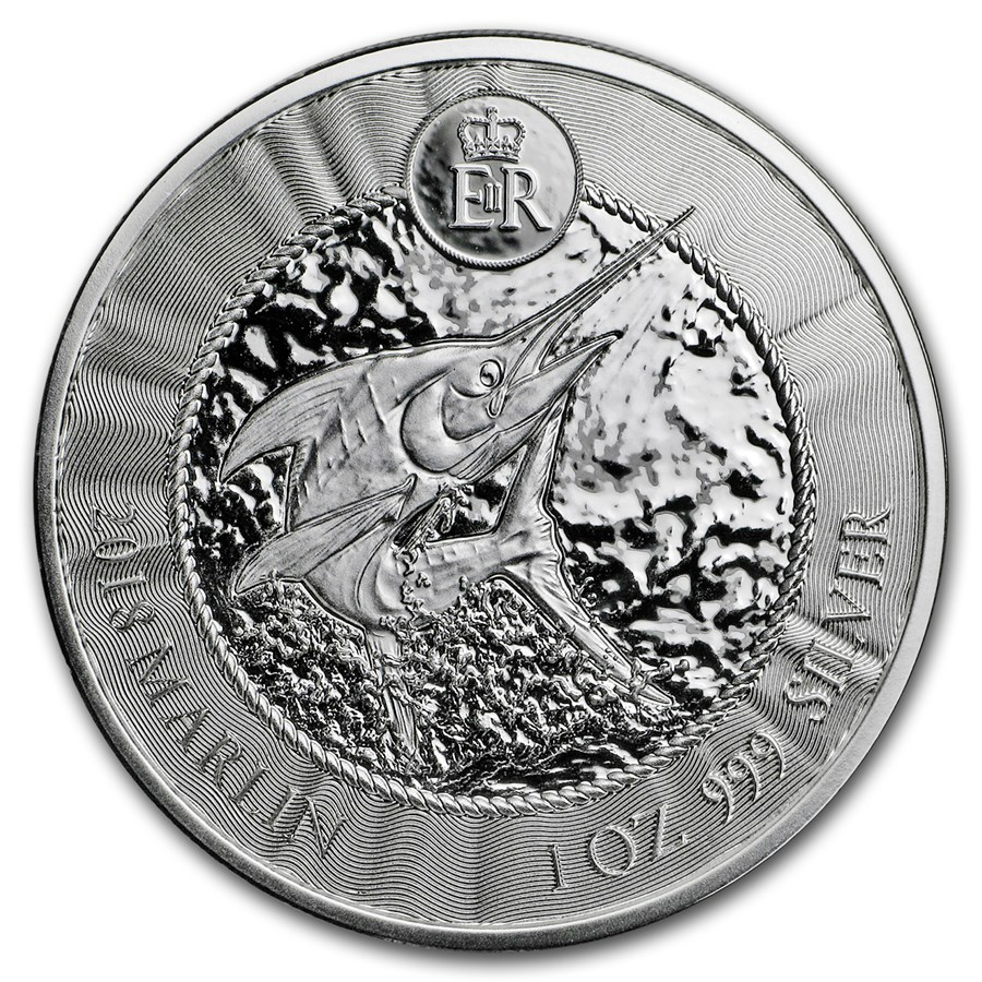 2018 Cayman Islands 1 oz Silver Marlin BU