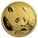 2018 China 15 gram Gold Panda BU (Sealed)