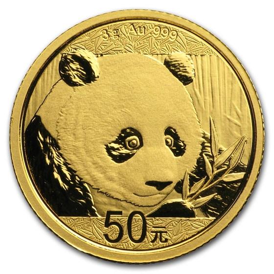 2018 China 3 gram Gold Panda BU (Sealed)