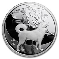2018 China 30 gram Silver Dog Proof (w/Box & COA)