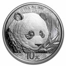 2018 China 30 gram Silver Panda MS-70 PCGS (FS, Yin-Yang)