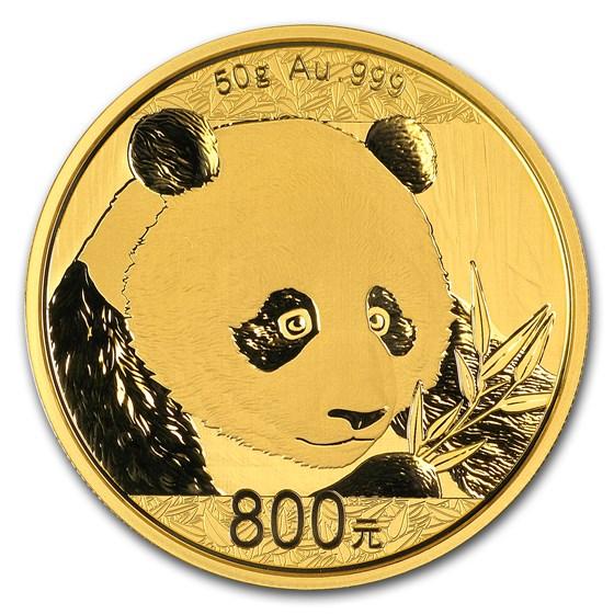 2018 China 50 gram Gold Panda Proof (w/Box & COA)