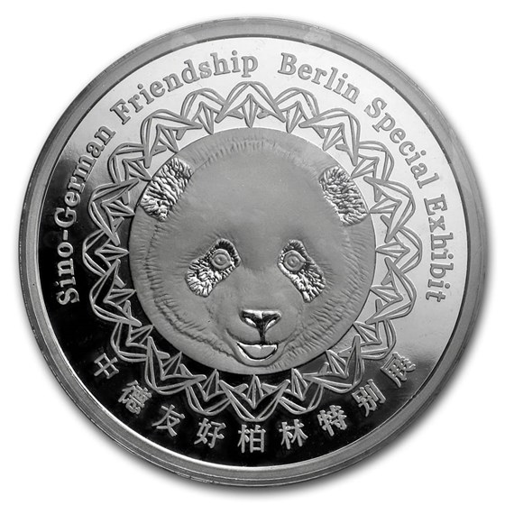 2018 China 8 gram Silver Panda Proof (BWMF, Sealed)