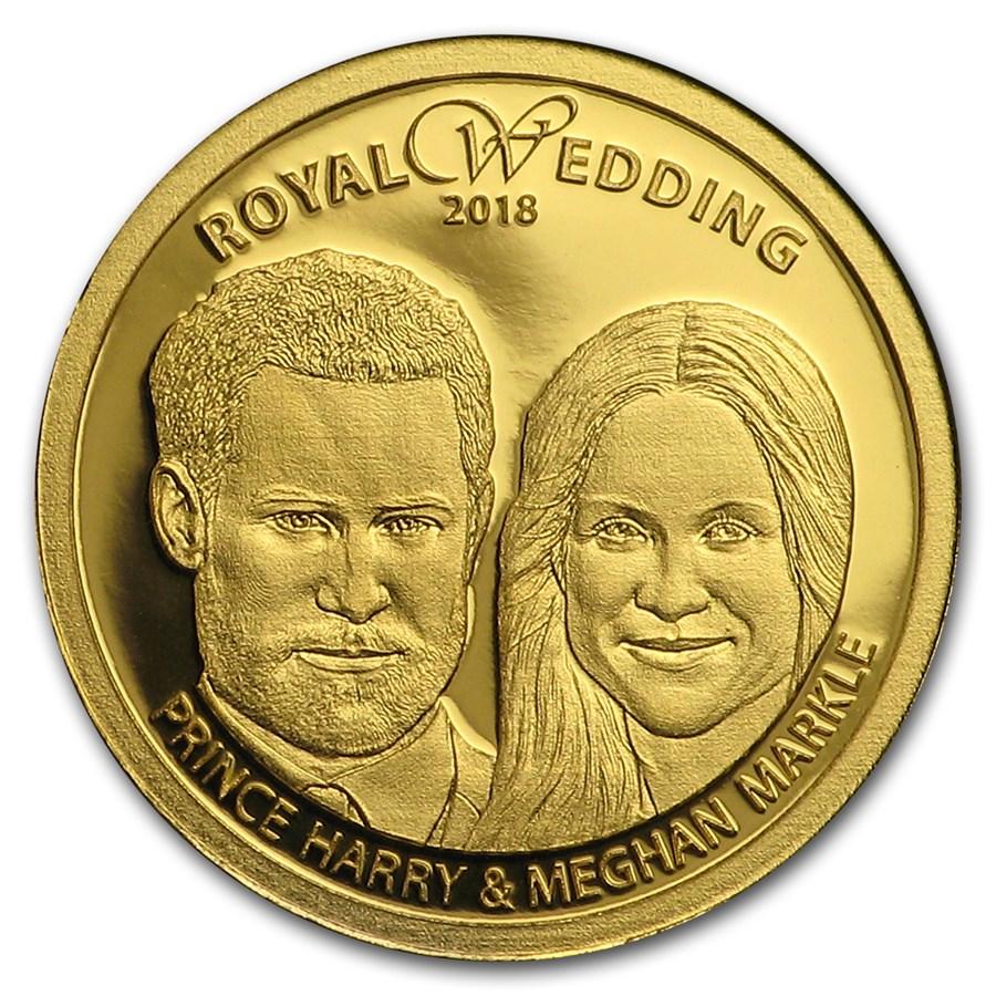 2018 Cook Islands 1/100 oz Gold Royal Wedding: Harry and Meghan