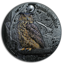 2018 Cook Islands 1 oz Silver Eagle Owl Black Proof