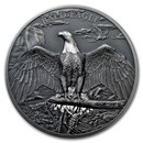 2018 Cook Islands 1 oz Silver High Relief Animals (Bald Eagle)