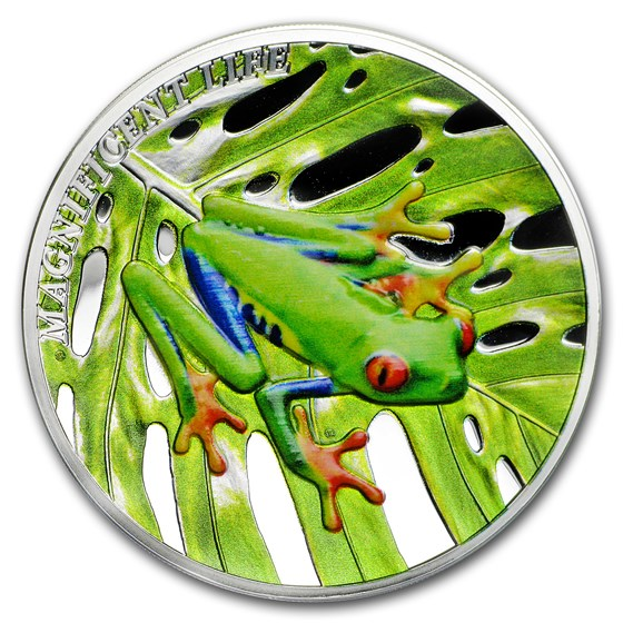 2018 Cook Islands 1 oz Silver Magnificent Life (Tree Frog)