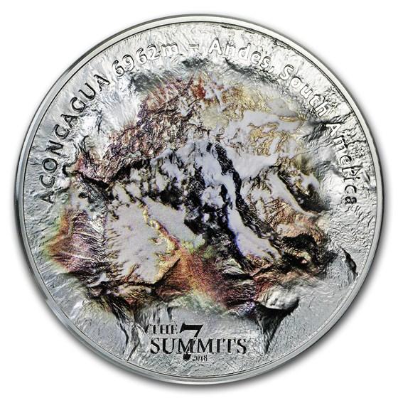 2018 Cook Islands 5 oz Silver 7 Summits (Aconcagua)