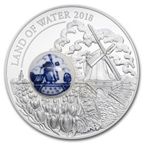 2018 Cook Islands Silver Royal Delft™ Land of Water Windmill