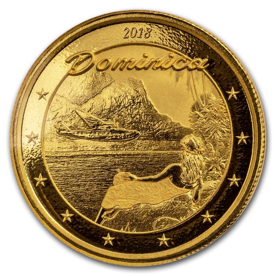 2018 Dominica 1 oz Gold Nature Isle BU