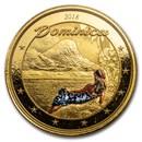 2018 Dominica 1 oz Gold Nature Isle (Colorized)