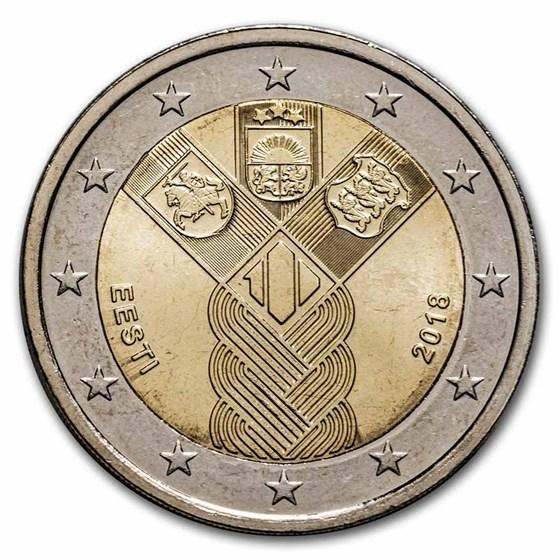 2018 Estonia 2 Euro Baltic States BU