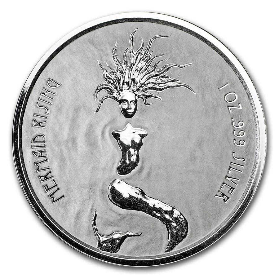 2018 Fiji 1 oz Silver Mermaid Rising BU