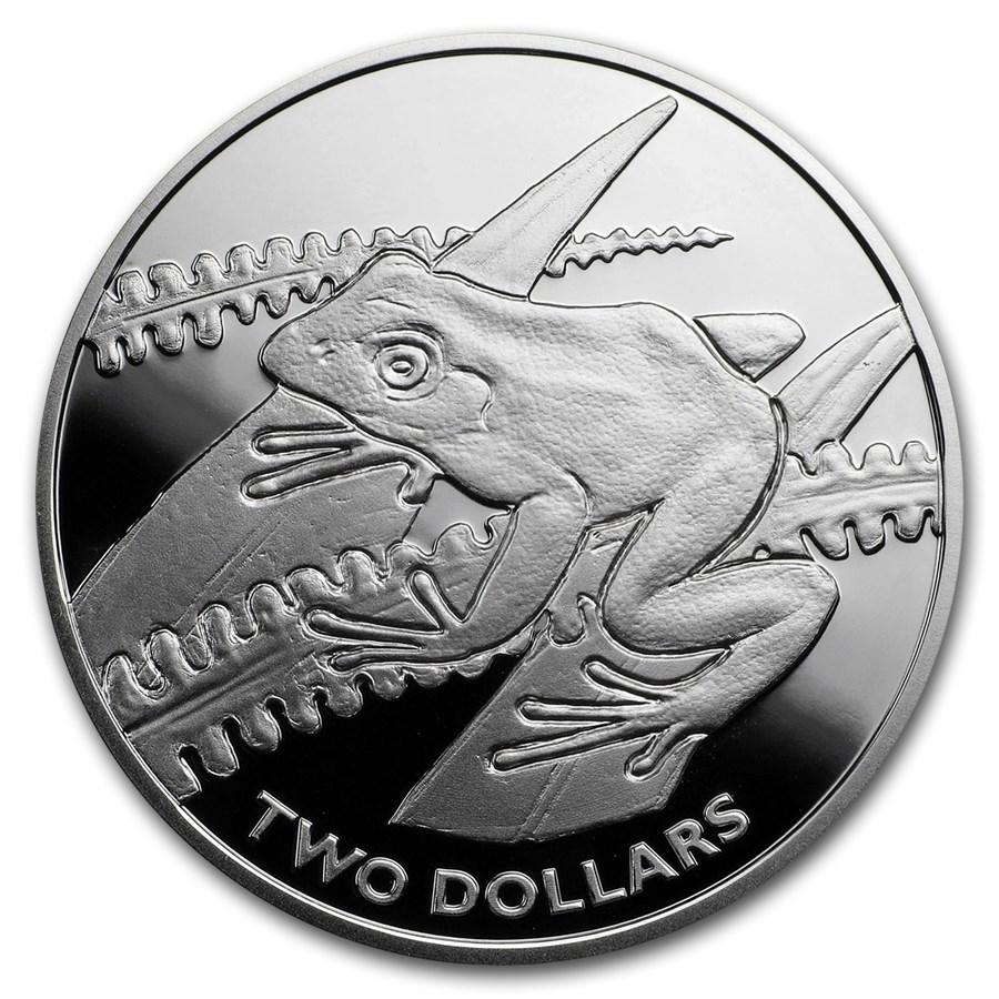 2018 Fiji Proof Silver $2 Tree Frog