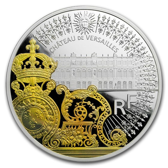 2018 France 5 oz Prf Silver Treasures of Paris Gate of Versailles