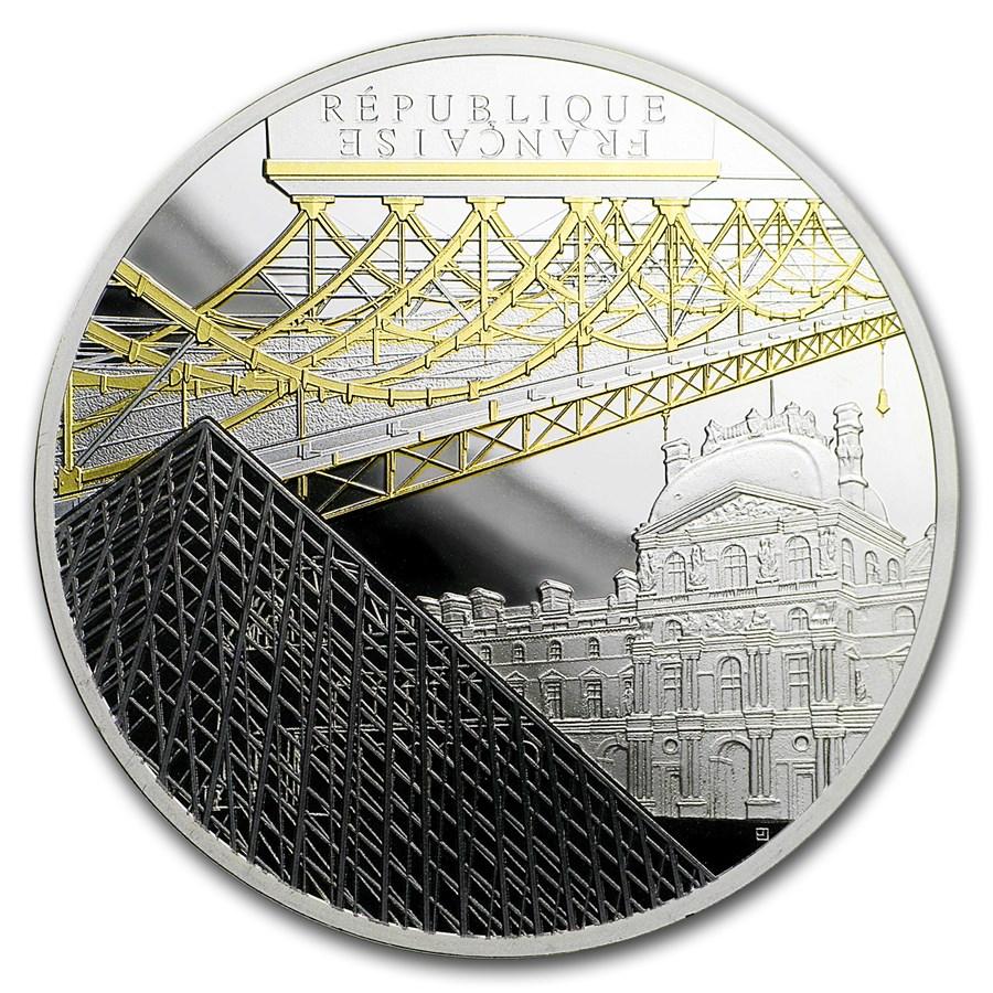 2018 France Silver €10 UNESCO (Louvre & Pont des Arts)