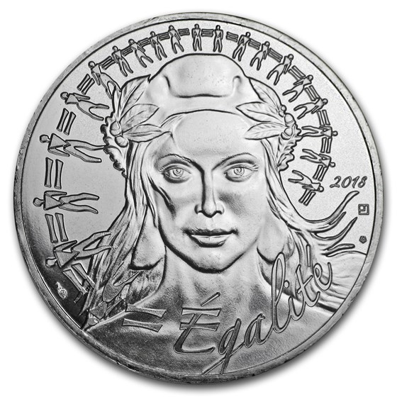 2018 France Silver €20 Marianne (Face Value Coin)