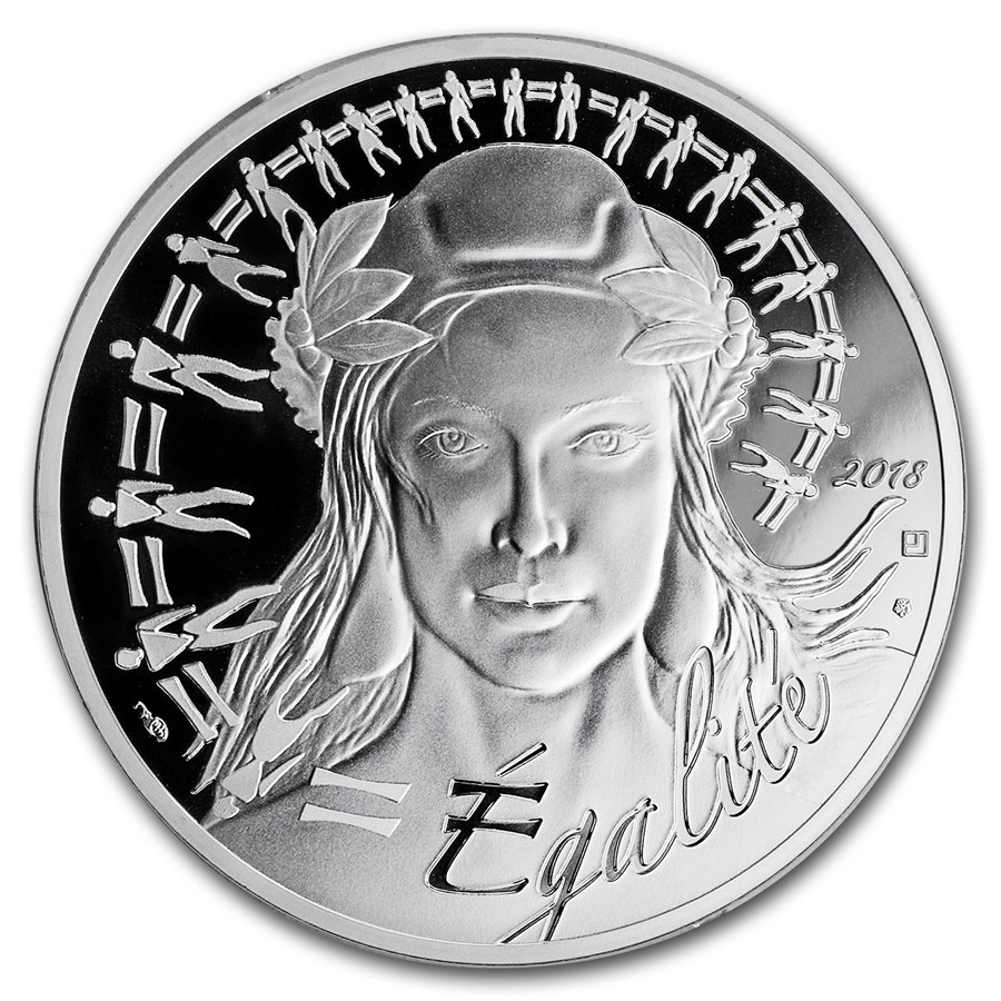 2018 France Silver €20 Marianne Proof (Face Value Coin)