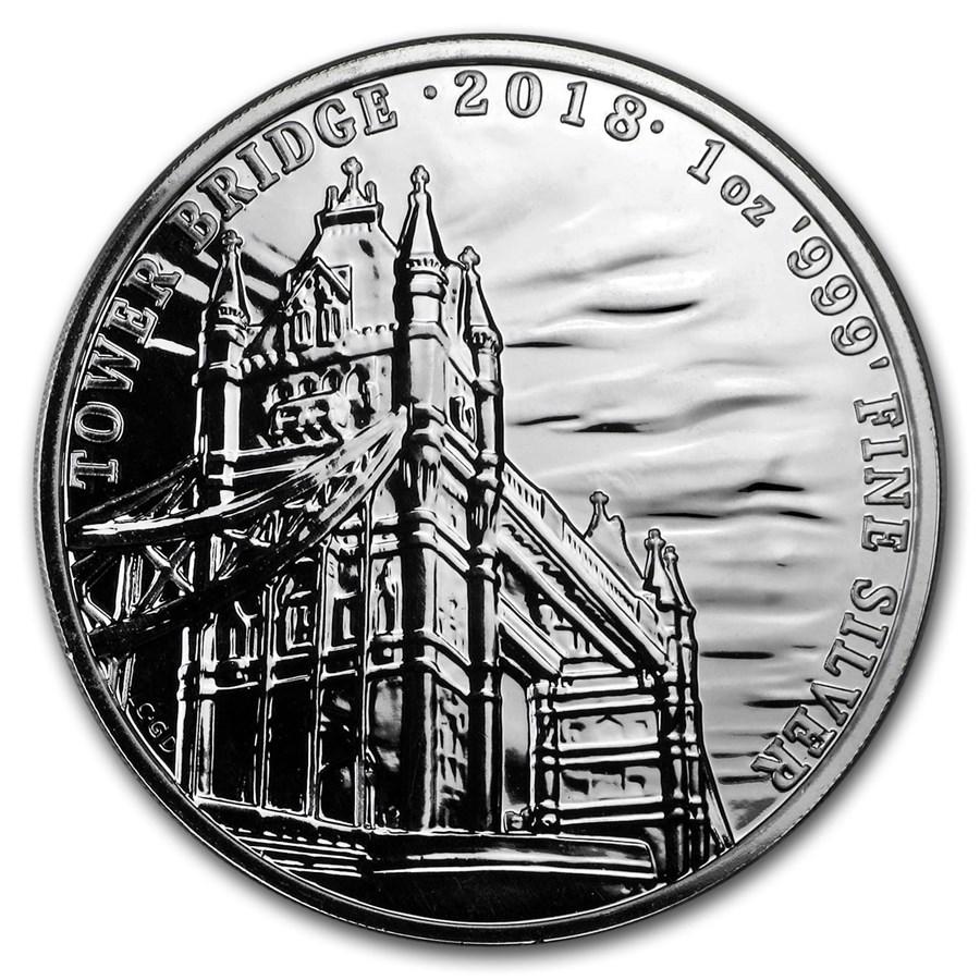 2018 GB 1 oz Silver Landmarks of Britain (Tower Bridge)