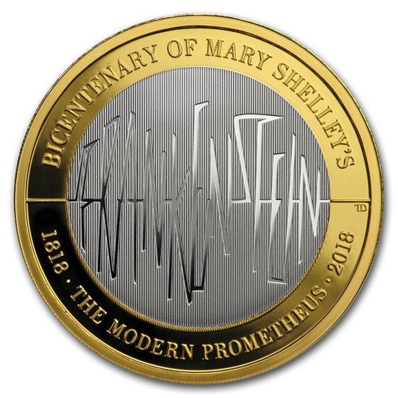 2018 GB £2 Silver Piedfort Proof Frankenstein 200th Anniversary