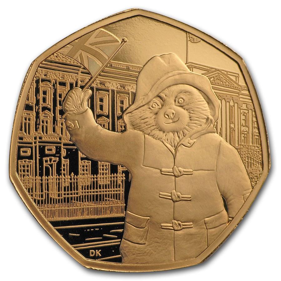 2018 GB 50p Gold 60th Anniv Paddington Bear (Buckingham Palace)