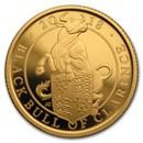 2018 GB Proof 1/4 oz Gold Queen's Beasts Bull (w/Box & COA)