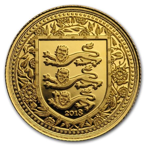 2018 Gibraltar 1/5 oz Gold Royal Arms of England BU