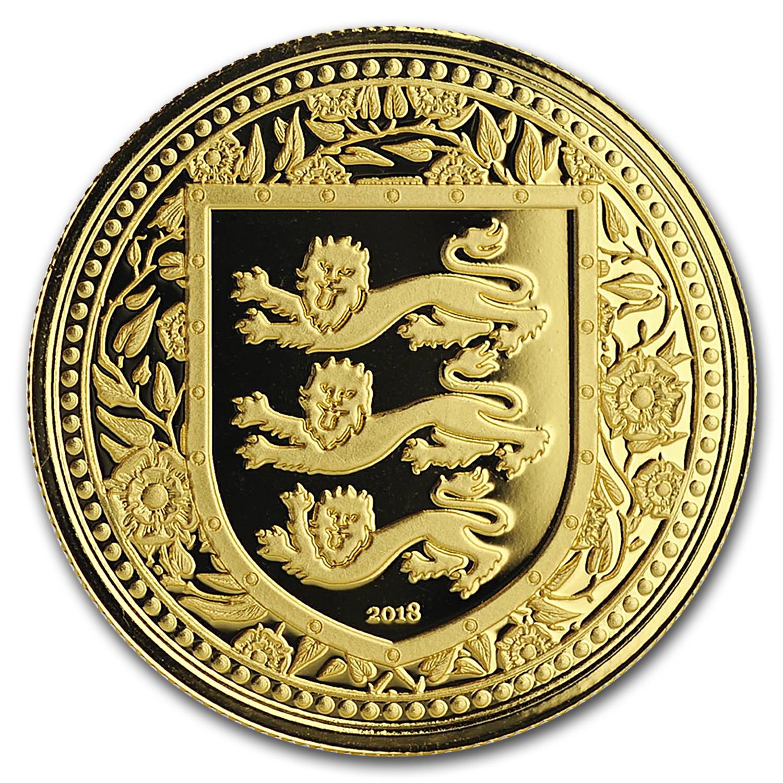 999 Fine Silver Round Coin 31.1 Grams 2018 Royal Arms of England 1 oz