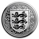 2018 Gibraltar 1 oz Silver Royal Arms of England Proof (Black)