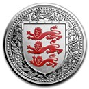 2018 Gibraltar 1 oz Silver Royal Arms of England Proof (Red)