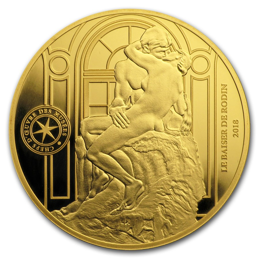 2018 Gold €50 Masterpieces of Museums Proof (Le Baiser)