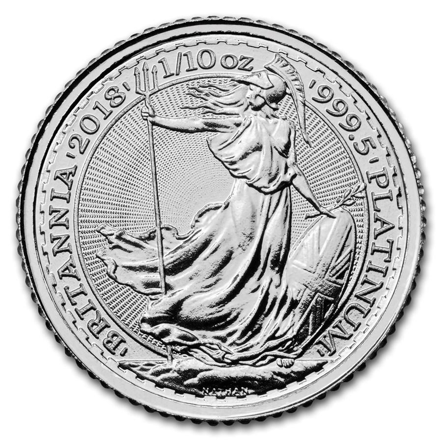 2018 Great Britain 1/10 oz Platinum Britannia BU