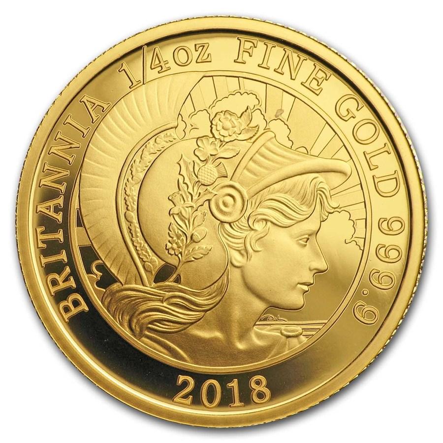 2018 Great Britain 1/4 oz Gold Britannia Proof Coin