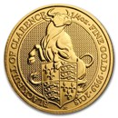 2018 Great Britain 1/4 oz Gold Queen's Beasts The Bull