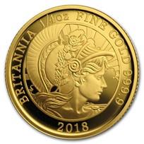 2018 Great Britain 1/4 oz Proof Gold Britannia (No Outer Box)